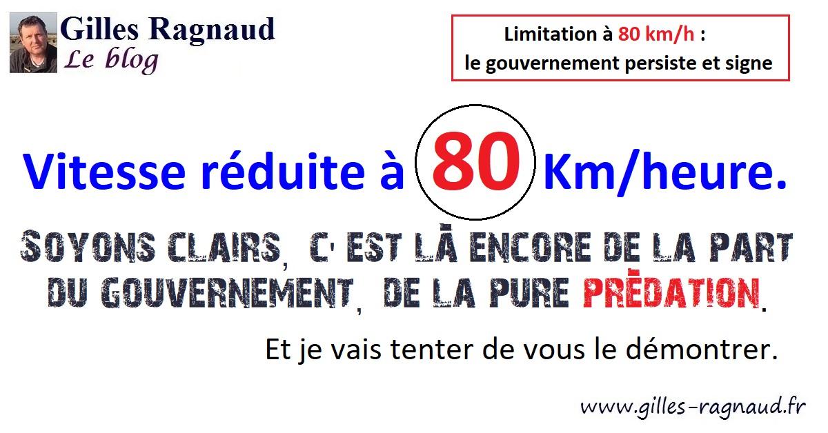 Limitation à 80 km/h : le gouvernement persiste et signe.